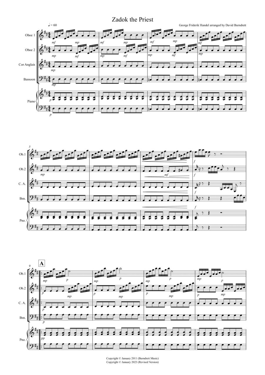 Zadok the Priest for Recorder Quartet