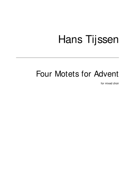 Four Motets for Advent
