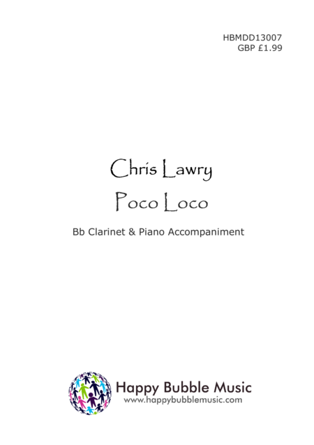 Poco Loco - for Bb Clarinet & Piano (from Scenes from a Parisian Cafe)