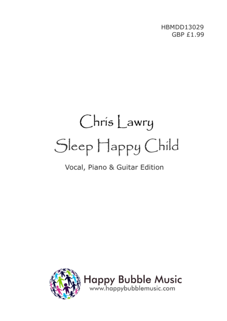 Sleep Happy Child (Piano Vocal Guitar Score)