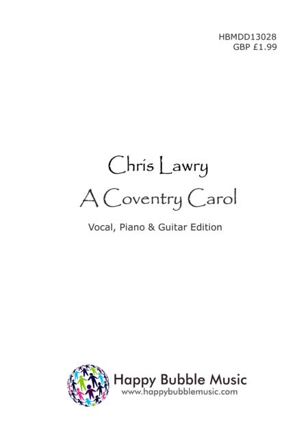 A Coventry Carol (Piano Vocal/Choir & Guitar Score)