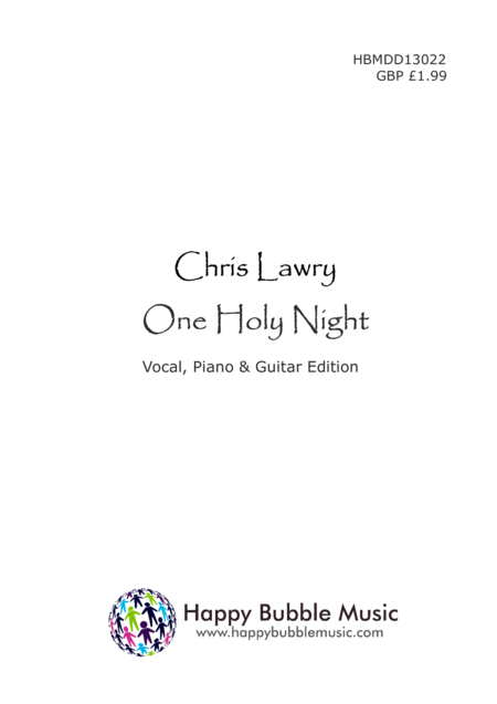 One Holy Child (Piano Vocal Guitar Score)