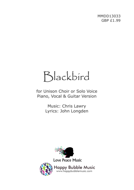 Blackbird (Vocal/Piano Score)