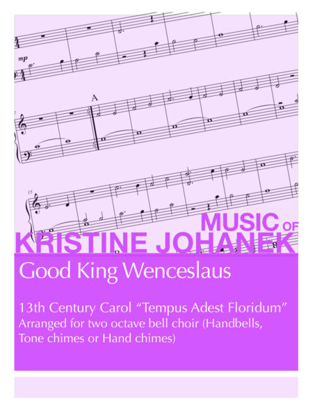 Good King Wenceslaus (2 octave handbells, tone chimes or hand chimes)