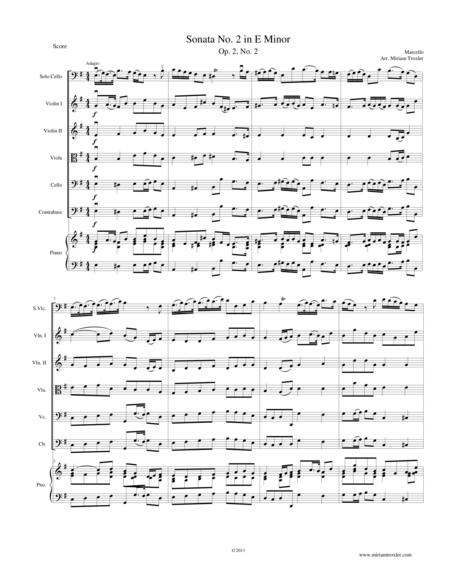 Sonata No. 2 in E Minor, Op. 2, No. 2