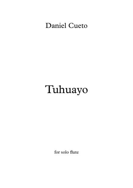 TUHUAYO for solo flute