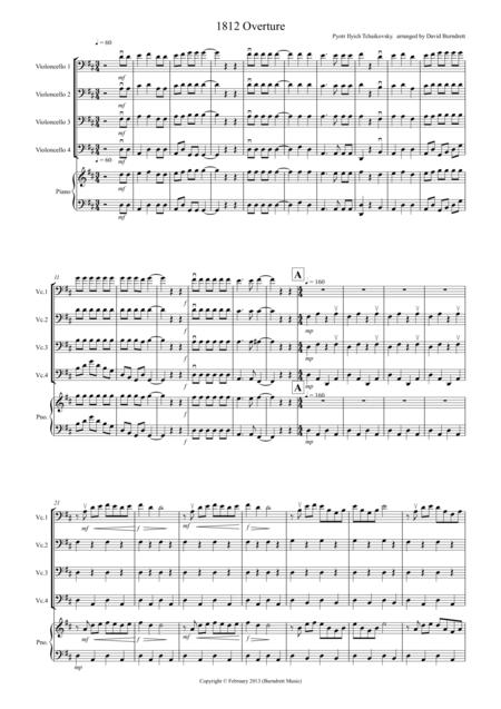 1812 Overture for Cello Quartet