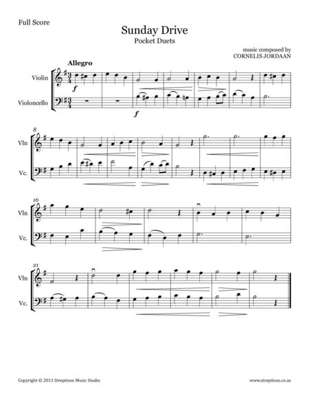Pocket Duets, for violin & violoncello