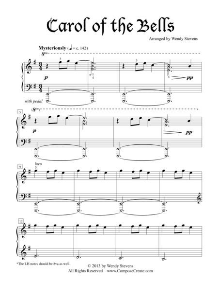 Carol of the Bells - Intermediate