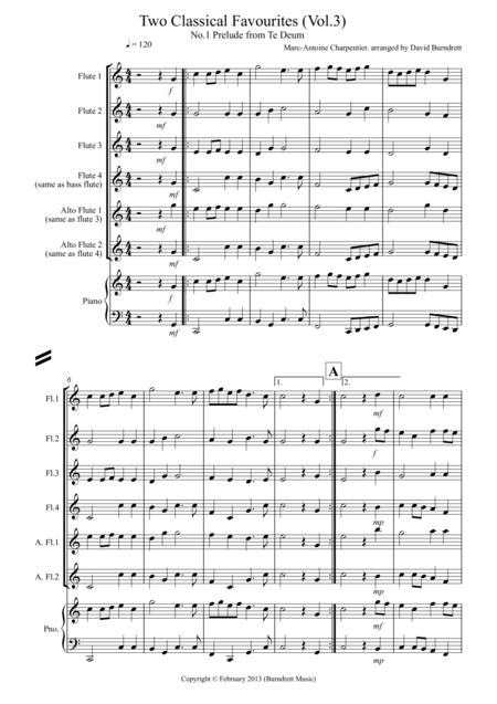 2 Classical Favourites for Flute Quartet (volume three)