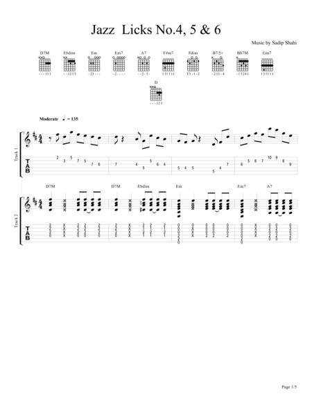 Series of Jazz Guitar Licks