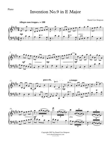 Invention No.9 in E major