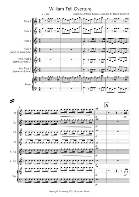 William Tell Overture for flute Quartet