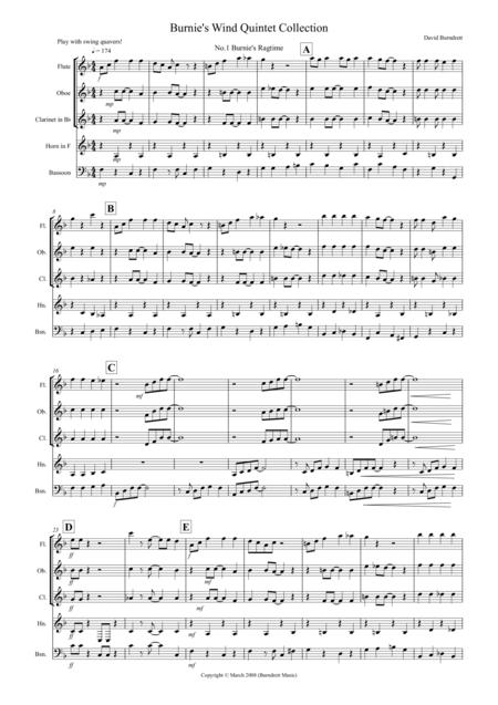 Burnie's Wind Quintet Collection