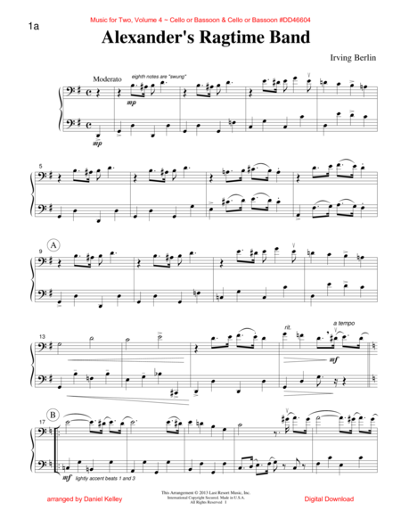 Music for Two, Volume 4 for Cello or Bassoon & Cello or Bassoon