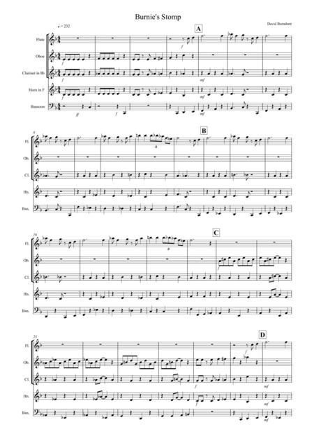 Burnie's Stomp for Wind Quintet