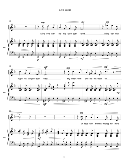 Love Songs (1998) for soprano and piano