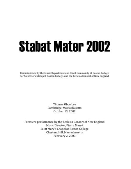 Stabat Mater (2002) for SATB chorus and organ