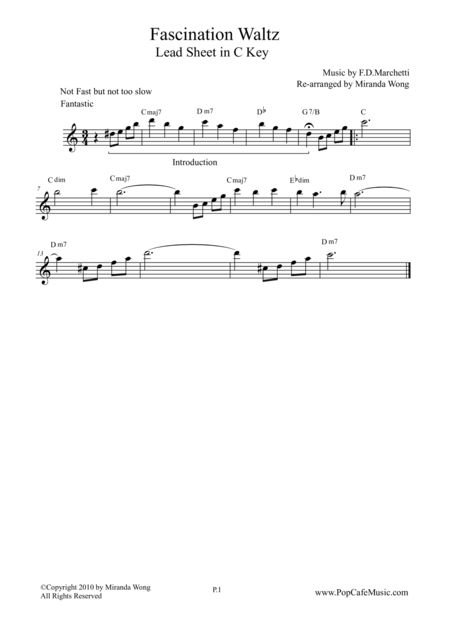Fascination - Violin Solo in C