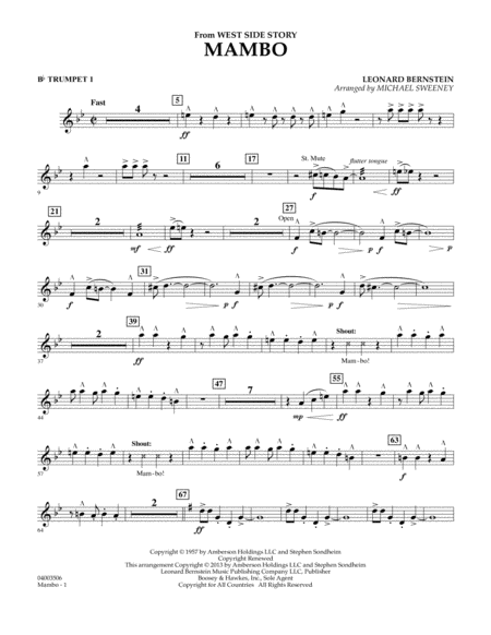 Mambo (from West Side Story) - Bb Trumpet 1