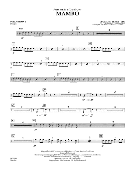 Mambo (from West Side Story) - Percussion 3