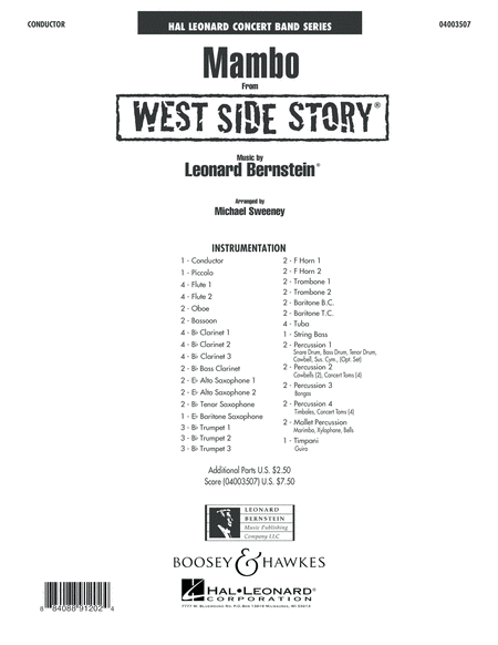 Mambo (from West Side Story) - Conductor Score (Full Score)