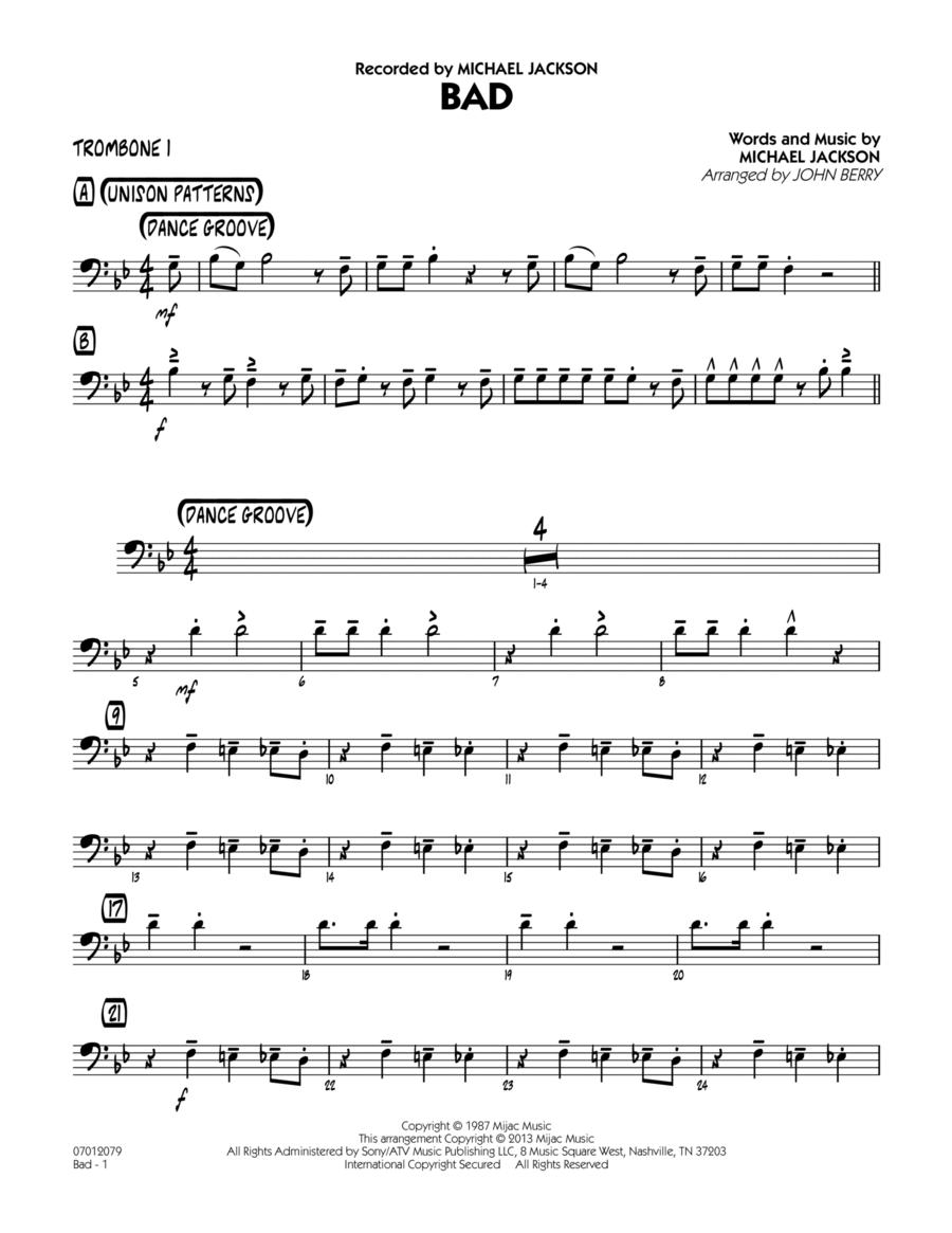 Bad - Trombone 1