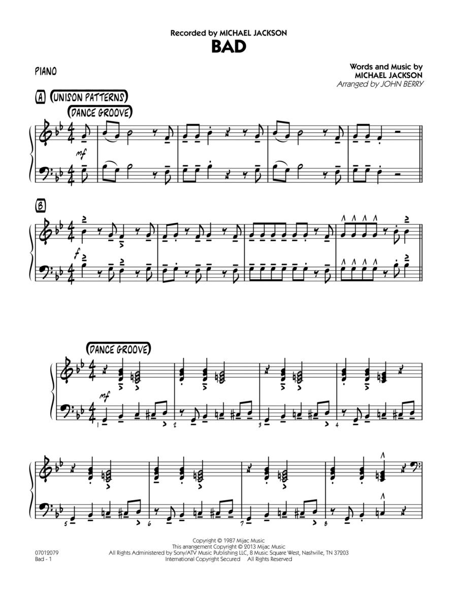 Bad - Piano