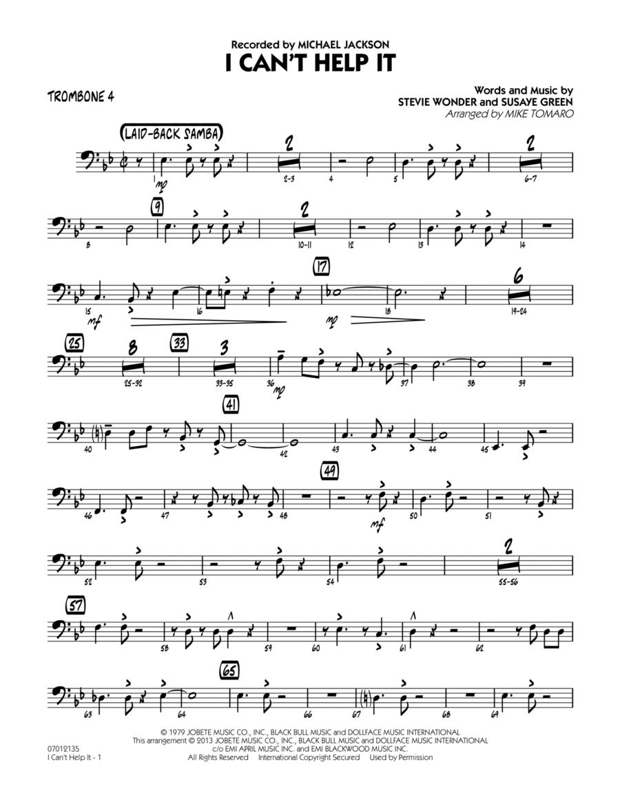 I Can't Help It - Trombone 4