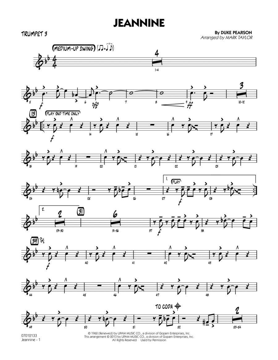 Jeannine - Trumpet 3