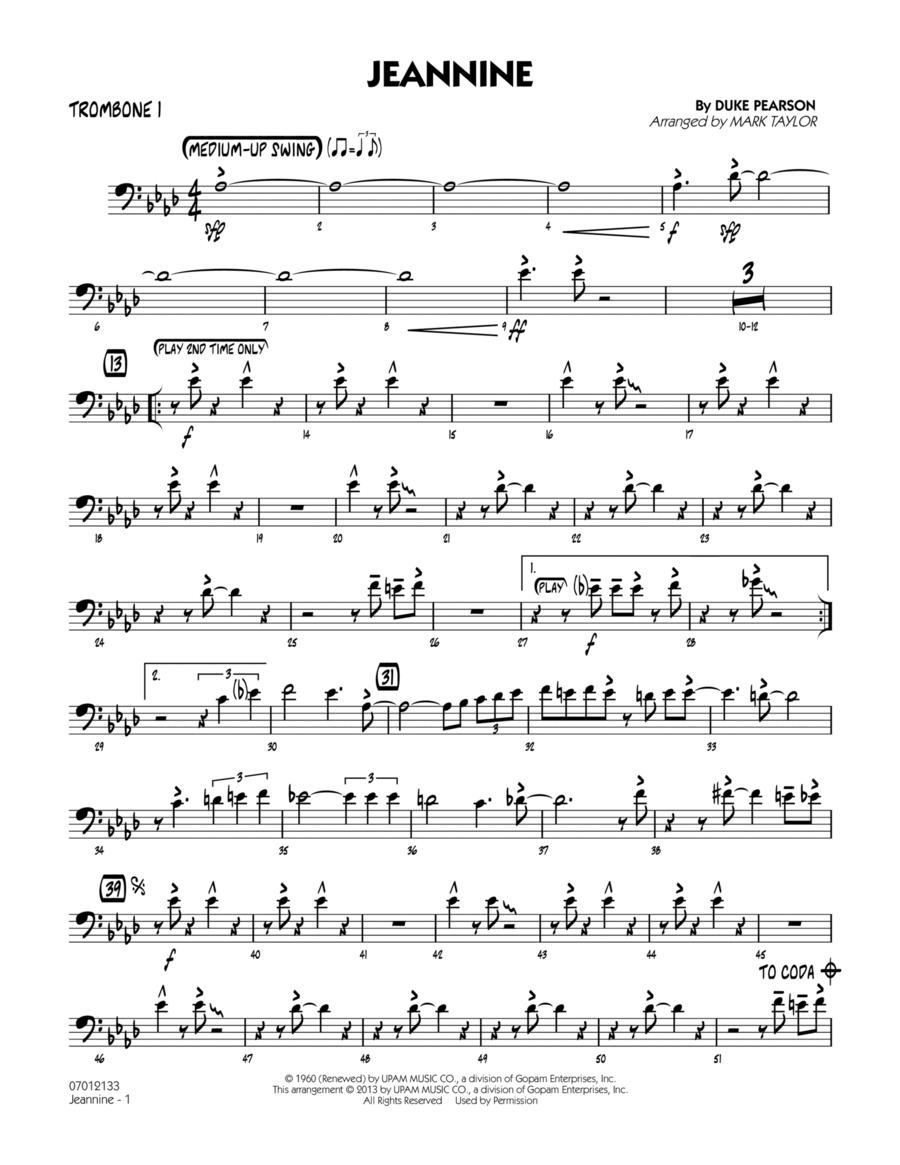 Jeannine - Trombone 1