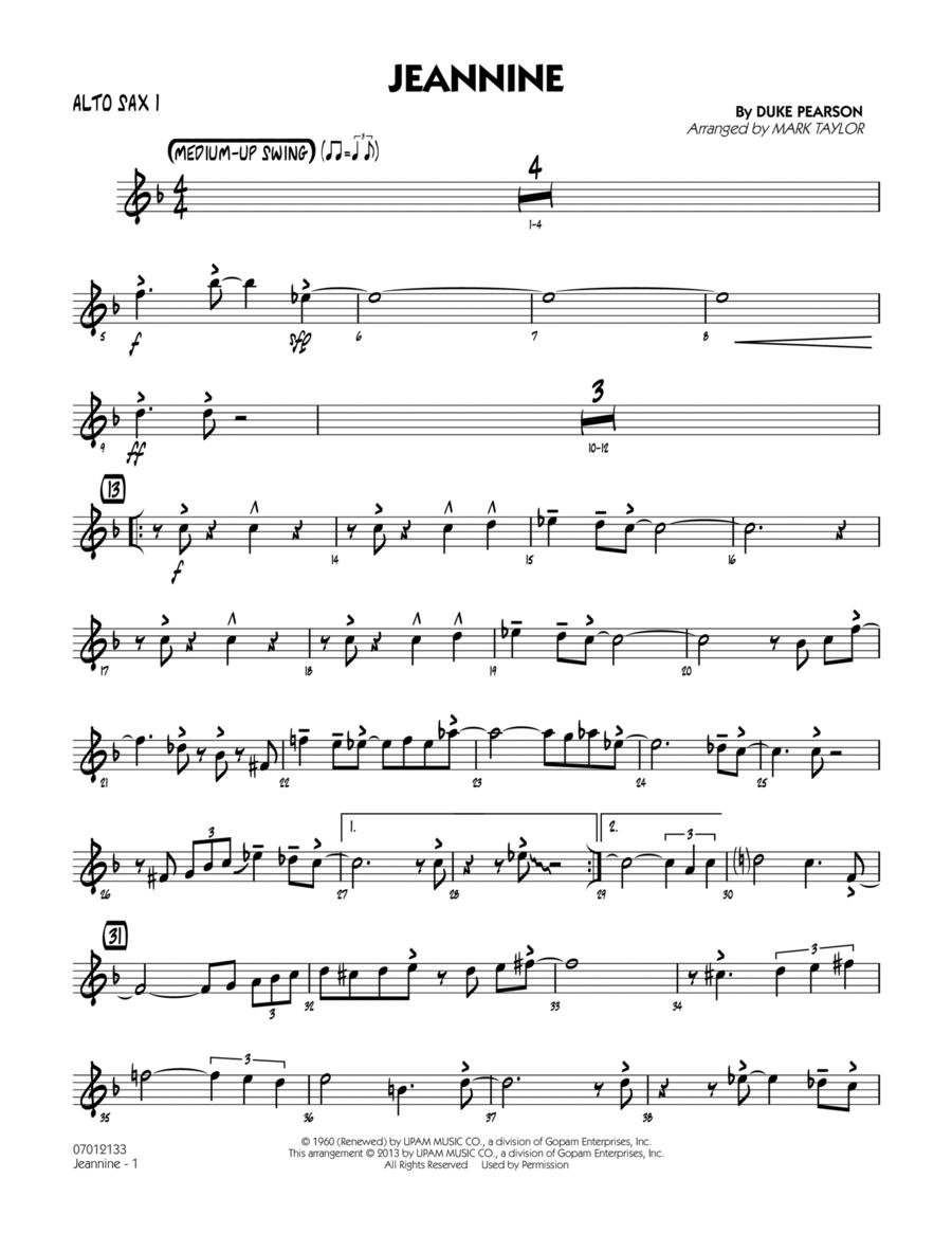 Jeannine - Alto Sax 1