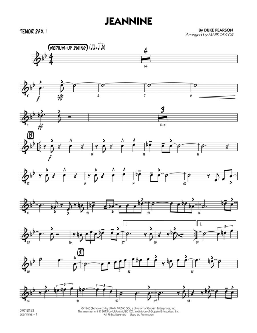 Jeannine - Tenor Sax 1
