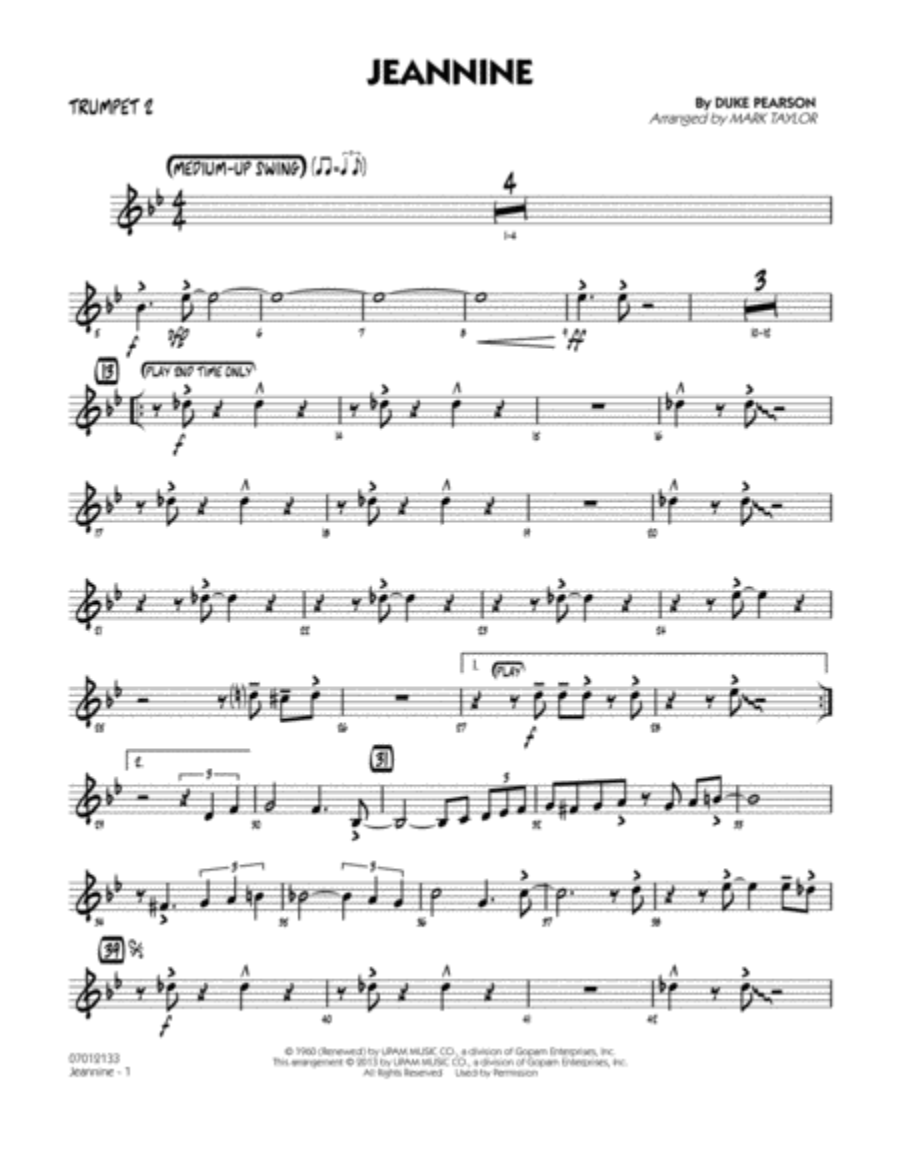 Jeannine - Trumpet 2