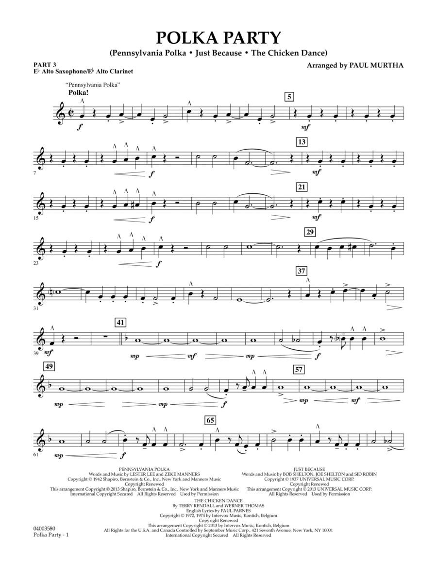 Polka Party - Pt.3 - Eb Alto Sax/Alto Clar.