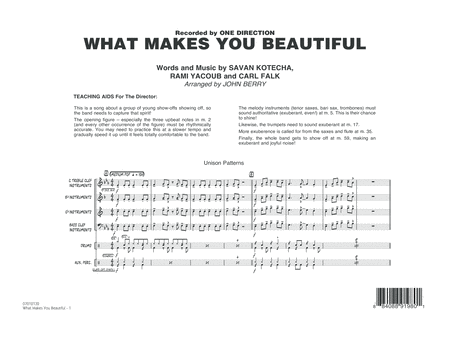 What Makes You Beautiful - Conductor Score (Full Score)