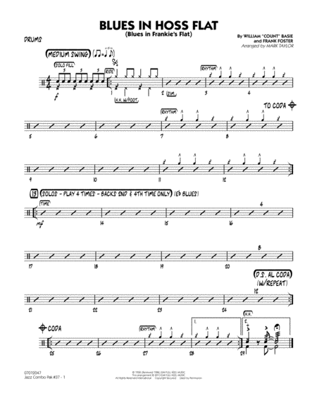 Jazz Combo Pak #37 (Count Basie) - Drums