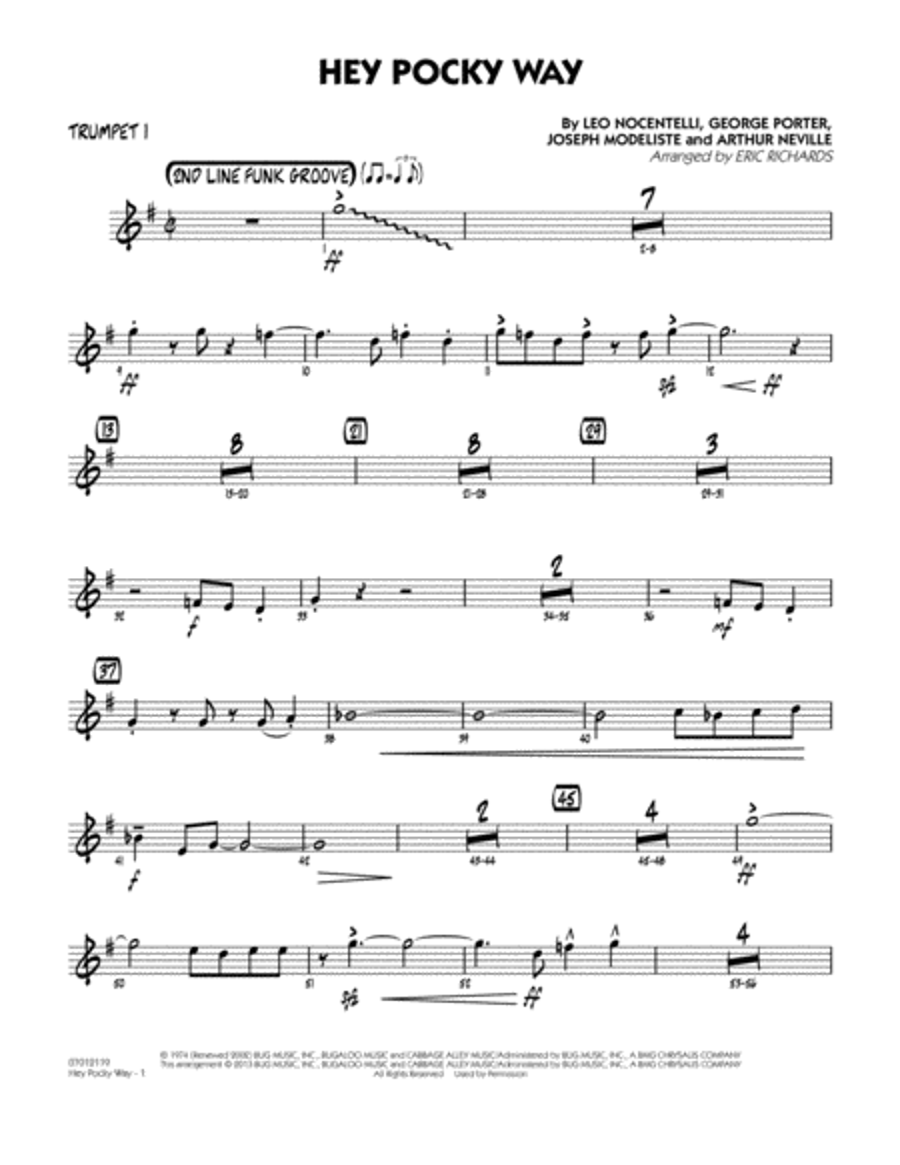 Hey Pocky Way - Trumpet 1