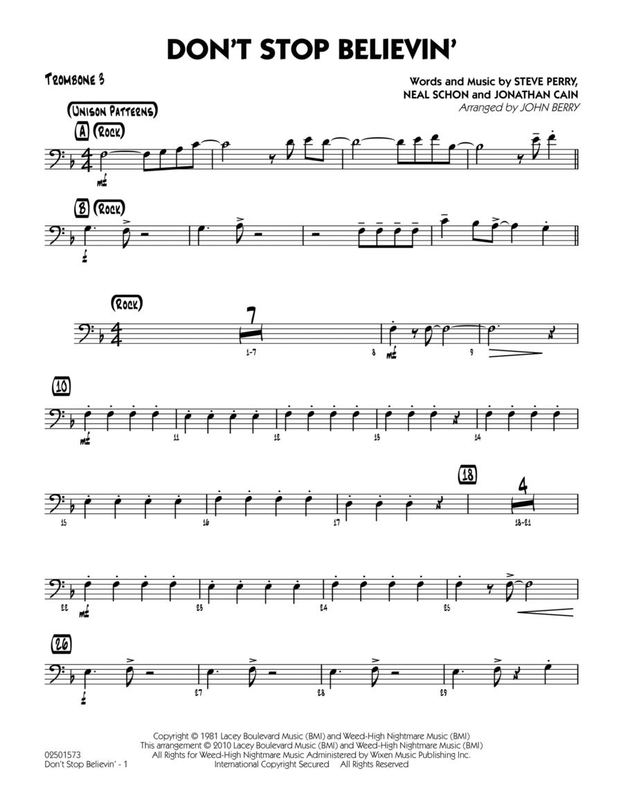 Don't Stop Believin' - Trombone 3