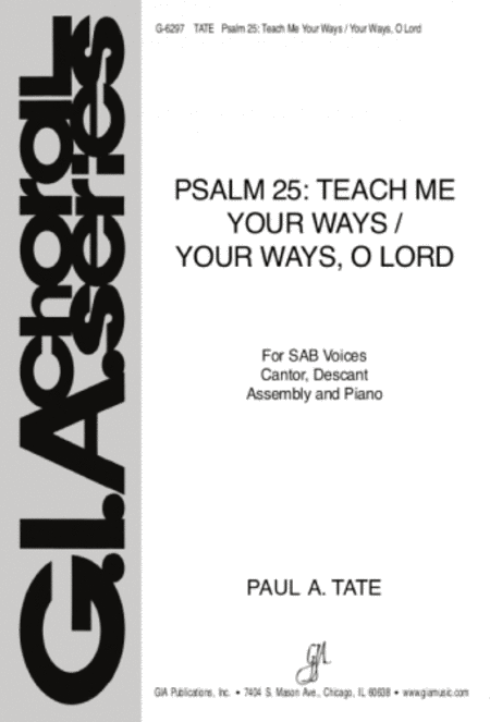 Psalm 25: Teach Me Your Ways - Guitar part