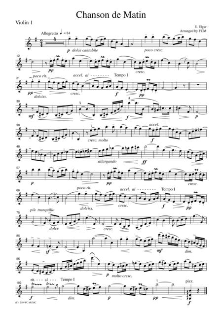 Elgar Chanson de Matin