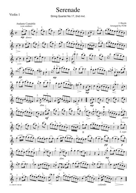 Haydn Serenade (String Quartet No.17, 2nd mvt.)