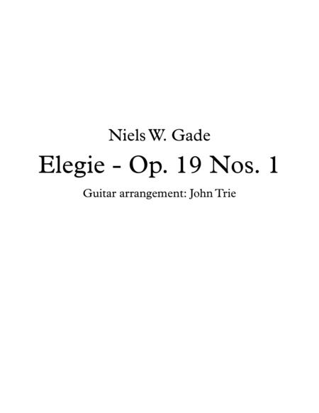 Elegie - Op. 19 Nos. 1 - tab