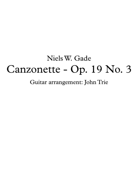 Canzonette - Op. 19 No. 3 - Tab