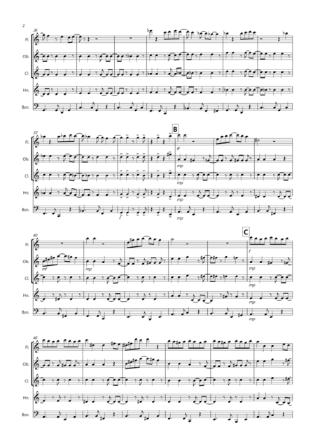Burnie's Bossa for Wind Quintet