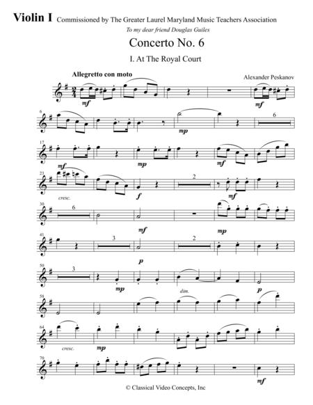 Concerto No. 6 - Orchestra Parts