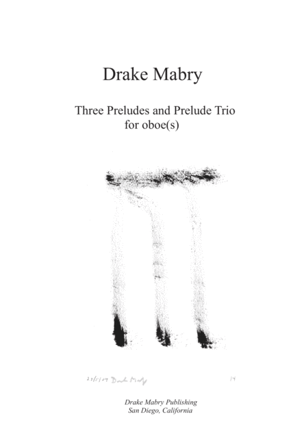 Three Preludes and Prelude Trio