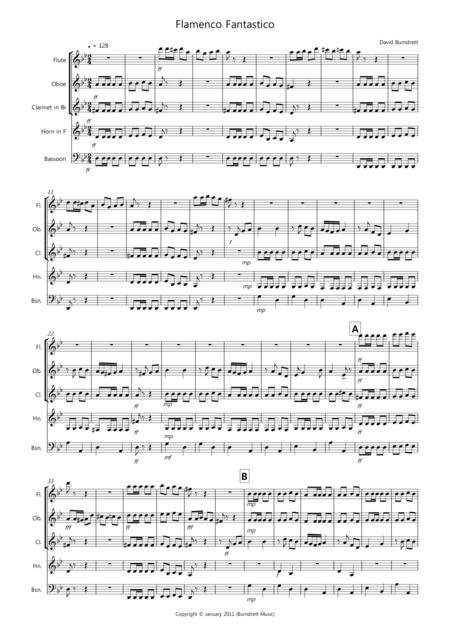 Flamanco Fantastico for Wind Quintet