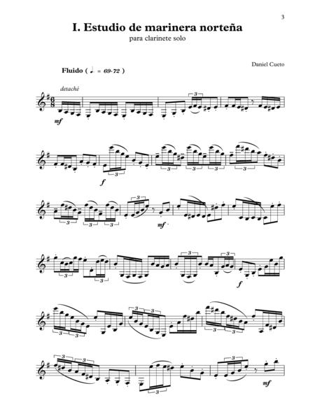 I. 'Estudio de Marinera Nortena', for solo clarinet (from ESTUDIOS CRIOLLOS)