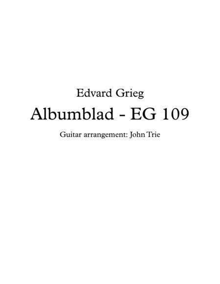 Albumblad - EG 109